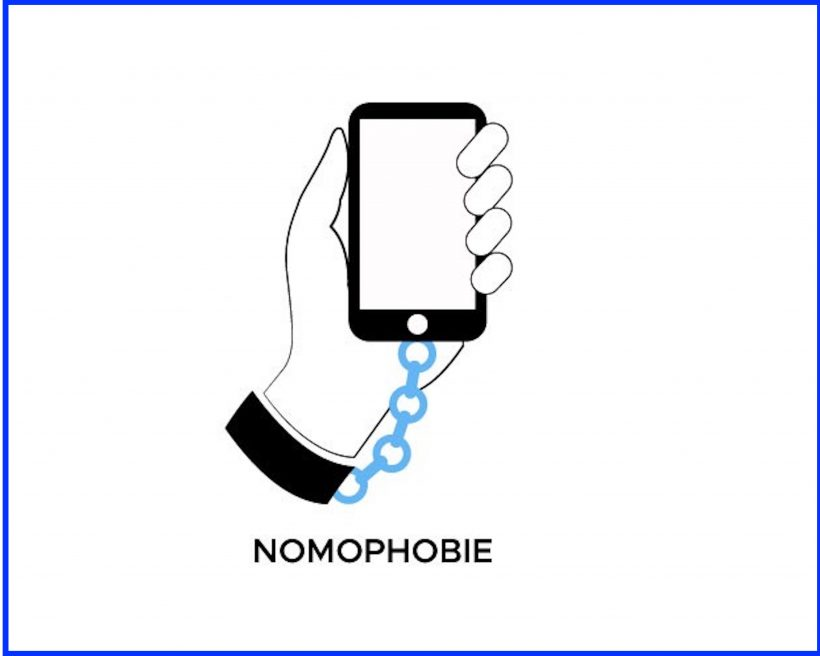 Nomophobia : No mobile (phone) Phobia.